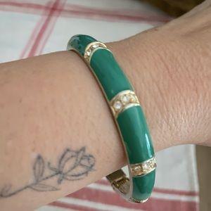 Banana Republic Enamel Bangle Bracelet Jade Green